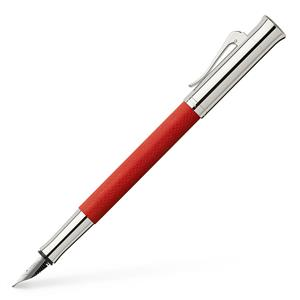 Graf von Faber Castell Guilloche Dolma Kalem Hint Kırmızısı EF uç 145292