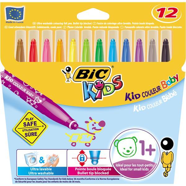 Bic Kids Couleur Baby Wax Crayon Pastel Boya 12Li
