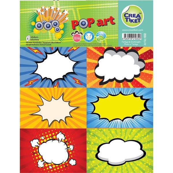 Crea Pop Art Okul Etiket No:1032
