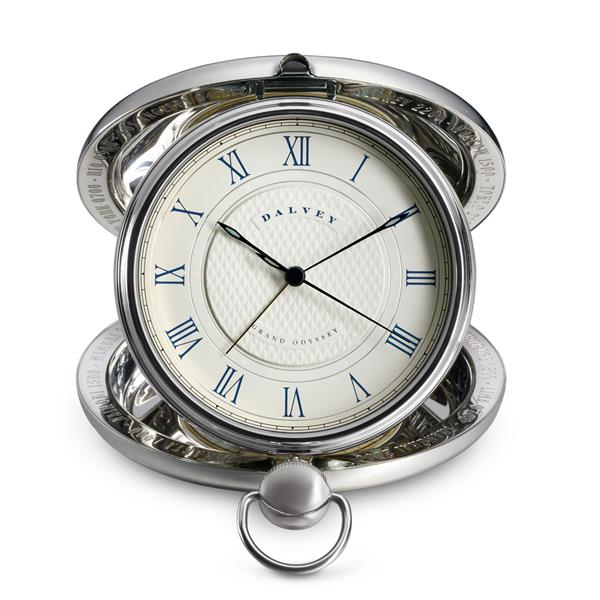 Dalvey Grand Odyssey Clock Stainless Detail 03033