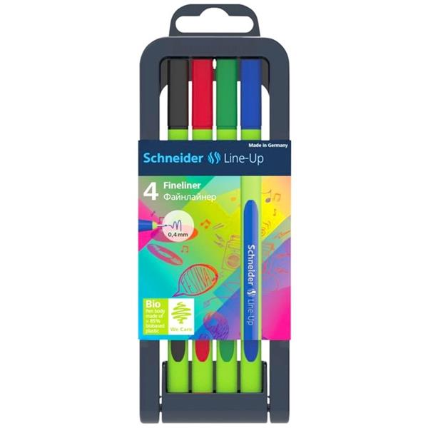 Schneider Line Up 0.4Mm Fineliner 4Lü Set